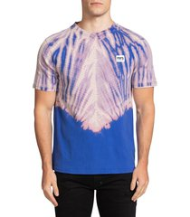 prps men's fairton tie-dye t-shirt - royal blue - size xxl