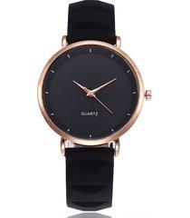 reloj mujer casual analogico pulso silicona 116 negro