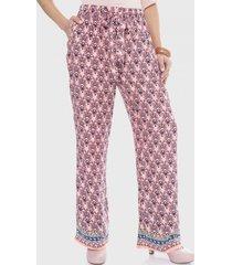 pantalón con elástico en cintura y amarras rosa curvi