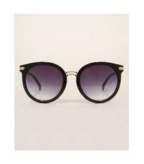 óculos de sol feminino quadrado oneself preto