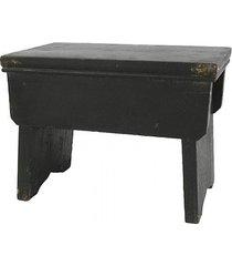 stołek taboret drewniany old french black