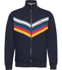 chevron track jacket tunn jacka blå original penguin