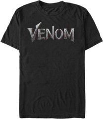 marvel men's venom chrome venom logo short sleeve t-shirt