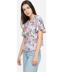 blusa de flores manga bolero