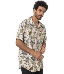 camisa hombre aflora crudo print haka honu