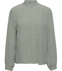 moagz blouse ms21 blouse lange mouwen groen gestuz
