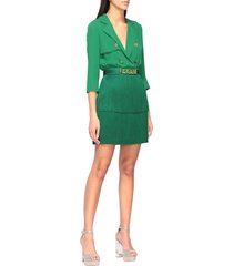 elisabetta franchi dress elisabetta franchi dress with blouse and fringed skirt