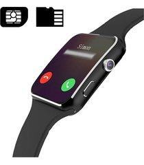 bakeey x6 orologio curvo intelligente con hd fotocamera e sim da chiamare impostato app e per ios andriod