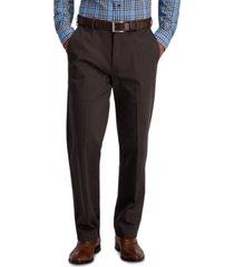 haggar men's iron free premium khaki classic fit flat front pant