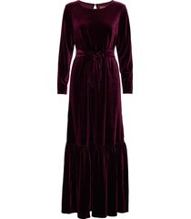 elvira velvet maxi dress galajurk rood line of oslo