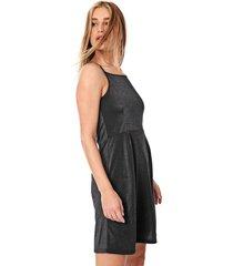 vestido fiveblu curto metalizado preto