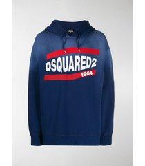 dsquared2 1964 logo printed hoodie