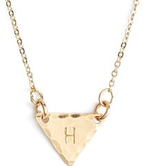 nashelle 14k-gold fill initial triangle necklace in 14k gold fill h at nordstrom