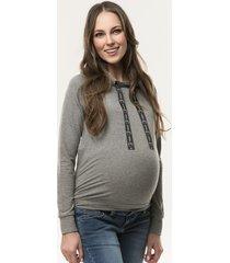 bluza ciążowa z kapturem