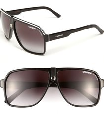 carrera eyewear 62mm aviator sunglasses in black/grey at nordstrom