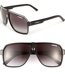 men's carrera eyewear 62mm aviator sunglasses - black/ grey