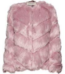 oria faux fur jacket outerwear faux fur roze by malina