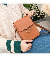 borsa a tracolla verticale borsa piccola a 6 pollici borsa per cellulare per le donne