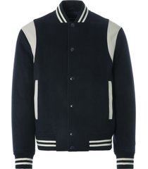 emporio armani wool cashmere bomber jacket   blue navy   3k1bq6 1nybz-920
