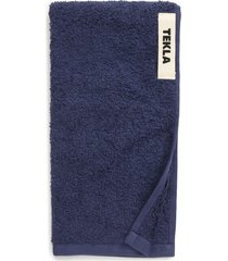 tekla organic cotton bath towel, size guest towel in navy at nordstrom