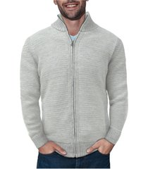 x-ray men's full-zip high neck sweater jacket