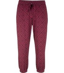 pantaloni fantasia a pinocchietto (viola) - bpc bonprix collection