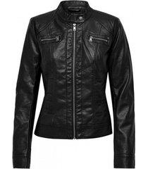 leren jas only copy of chaqueta mujer polipiel 15081400