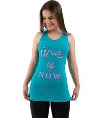 regata 4 estaã§ãµes visco fresca esporte fitness blusa sobre legging furadinha azul celeste - azul - feminino - viscose - dafiti