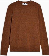 mens brown rust stitch essential sweater