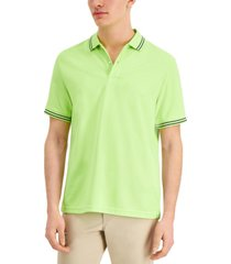 club room men's performance stripe polo, created for macy's