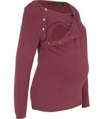maglione prémaman / da allattamento (rosso) - bpc bonprix collection