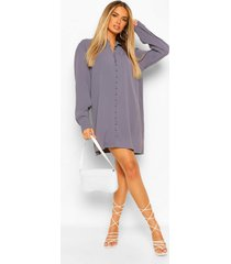 blouse jurk met knopen en lange mouwen, blue