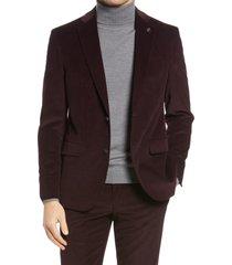 men's ted baker london ralph corduroy sport coat, size 38 regular - purple