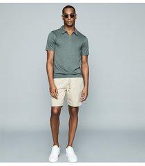 reiss wenlock - drawcord shorts in beige, mens, size xxl