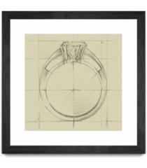 "giant art ring design i matted and framed art print, 30"" x 30"""