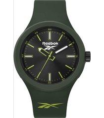 reloj verde reebok warm up