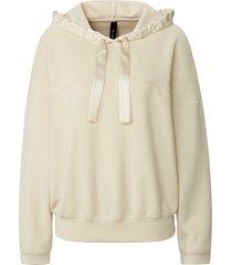 sweatshirt lange mouwen van marc cain wit