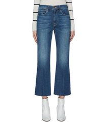 'le crop flare' raw cuff jeans