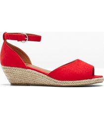 sandali con zeppa (rosso) - bpc bonprix collection
