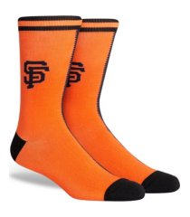 parkway men's san francisco giants split jersey crew socks