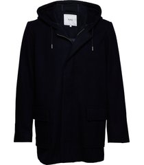 canal jacket wollen jas lange jas zwart makia