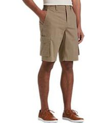 joseph abboud tan plaid modern fit cargo shorts
