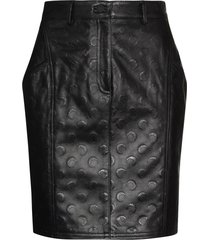marine serre moon printed mini skirt - black