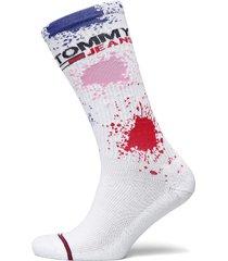 th unisex tommy jeans sock 1p splas lingerie socks regular socks vit tommy hilfiger