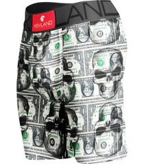 cueca boxer long leg kevland dolar skulls ii verde - verde - masculino - dafiti