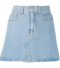 chiara ferragni fitted denim skirt - blue