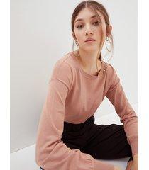 motivi maglia con catena di strass e pietre donna rosa