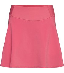 pwrshape solid woven skirt kort kjol rosa puma golf