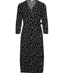 dress knitted fabric jurk knielengte zwart gerry weber