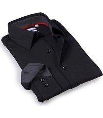 levinas men's tailored-fit dress shirt - black - size 17.5